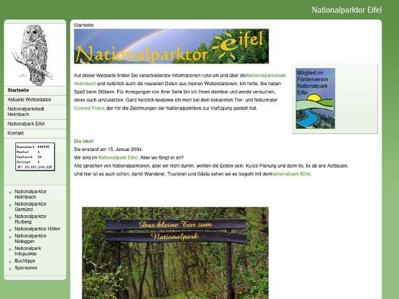 Screenshot von www.nationalparktor.de